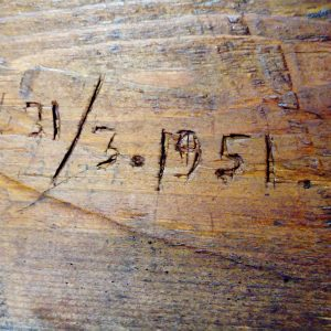 Historical note in the wooden.