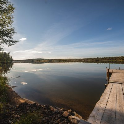 Lake Luosu invites for a refreshing swim in between your sauna session