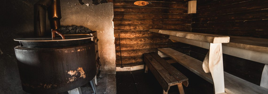 The old and original lumberjack sauna for memorable moments.