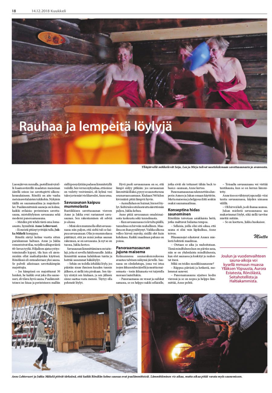 Ronola Article Published in Kuukkeli 2018-12-14