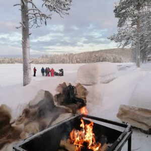 Ice hole fishing is exciting and relaxing
