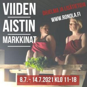 Rönölän Viiden Aistin Markkinat 8-14.7.2021 tarjoavat rentoja nautintoja ja aistillisia elämyksiä.